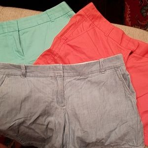 (3l pairs of JCrew shorts All size 10